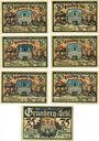 Banknotes Grünberg (Zielona Gora, Pologne). Stadt. Série de 7 billets. 50 pf (6ex), 75 pf n.d. - 31.12.1921