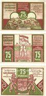 Banknotes Grundhof in Angeln. Gemeinde. Billets. 75 pf (3ex) 1.4.1921