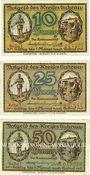 Banknotes Guhrau (Gora, Pologne). Kreis. Série de 3 billets. 10 pf, 25 pf, 50 pf (1920)
