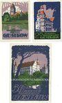 Banknotes Güstrow. Stadt. Série de 3 billets. 10 pf, 25 pf, 50 pf n. d. - 31.5.1922