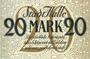 Banknotes Halle a. d. Saale. Stadt. Billet. 20 mark 15.10.1918, annulation par cachet ENTWERTET