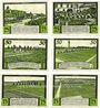 Banknotes Halstenbek. Gemeinde. Série de 6 billets. 25 pf (2ex), 50 pf (2ex), 75 pf (2ex) (1921)