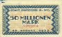 Banknotes Hamborn. Stadt. Billet. 50 millions mark 25.8.1923
