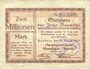 Banknotes Hamborn. Steinkohlenbergwerk Gewerkschaft Neumühl. Billet. 2 millions mk 14.8.1923