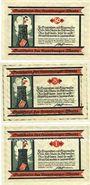 Banknotes Hambourg. Hamburger Warte, Für Kriegswitwen und Kriegswaisen. Billets. 50, 75 pf, 1 mk 1.7.1921