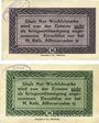 Banknotes Hamburg. H. Käse (Alsterarcaden 9). Billets. 25 pf, 50 pf n. d. - 1.1.1921