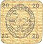 Banknotes Hamburg. Hamburger Hochbahn A. G. Billet. 20 pfennig (1920)