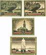 Banknotes Hamburg. Kultur- und Sportwoche. Billets. 50 pf (2ex), 75 pf, 1 mark1921