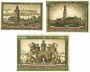 Banknotes Hamburg. Kultur- und Sportwoche. Billets. 50 pf, 75 pf, 1 mark 12-24.8.1921 - 1.10.1921, émission B