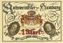 Banknotes Hamburg. Rathsweinkeller Robert Hahn. Billet. 1 mark 1921