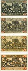 Banknotes Hameln. Stadt. Billets. 25 pf (2ex), 50 pf (2ex)