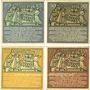 Banknotes Hameln. Stadt. Série de 4 billets. 25 pf, 50 pf, 75 pf, 1 mark 1.6.1921