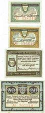 Banknotes Hamm. Stadt. Billets. 10 pf (2ex), 25 pf, 50 pf 18.5.1920
