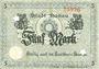 Banknotes Hanau. Stadt. Billet. 5 mark 10.10.1918, annulation par perforation