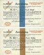 Banknotes Hanovre. Continental- Caoutchouc und Guttapercha-Compagnie. Billets. 50 pf, 1, 2, 5, 10 mk 19.8.1914