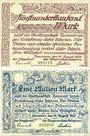 Banknotes Hanovre. Stadt. Billets. 500 000 et 1 million mark 10.8.1923