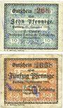 Banknotes Harburg. Thörl's F.. Vereinigte Harburger Oelfabriken. Billets. 10, 50 pf 11.11.1918