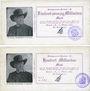 Banknotes Haslach. Stadtgemeinde. Billets. 25, 100 milliards mark 23.10.1923