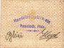 Banknotes Hassloch. Handelsshutz - Verein. Billet. 50 pf, texte avec erreurs : jederzet eivgelöst