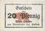 Banknotes Hassloch. Stamer Peter, zum Wittelsbacher Hof. Billet. 20 pf, sans signature manuscrite au do