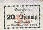 Banknotes Hassloch. Stamer Peter, zum Wittelsbacher Hof. Billet. 20 pf,