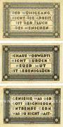Banknotes Heede. Gemeinde. Billets. 25 pf, 50 pf, 75 pf (1921)