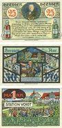 Banknotes Heessen bei Eilsen. Gemeinde. Billets. 25 pf, 50 pf, 1 mark 1.1.1921