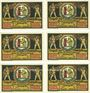Banknotes Heldburg. Stadt. Série de 6 billets. 50 pf 1921