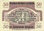Banknotes Helgoland. Spar- und Leihkasse der Landgemeinde. Billet. 50 pf 15.3.1919