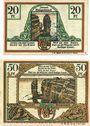 Banknotes Helgoland. Spar- und Leihkasse der Landgemeinde. Billets. 20 pf, 50 pf oct 1919