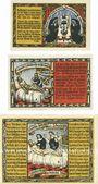 Banknotes Helmarshausen. Stadt. Série de 3 billets. 50 pf, 1 mark, 2 mark 15.5.1921