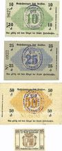 Banknotes Helmbrechts. Stadt. Billets. 10 pf, 25 pf, 50 pf 10.4.1917, 25 pf (1920)