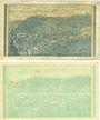 Banknotes Hennef. Bürgermeisterei. Billets. 2 millions, 50 millions mark 24.8.1923