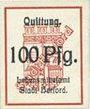 Banknotes Herford. Lebensmittelamt. 100 pfennig