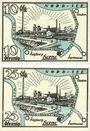 Banknotes Herne. Stadt. Billets. 10 pf, 25 pf 1.7.1921