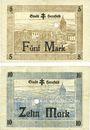 Banknotes Hersfeld. Stadt. Billets. 5 mark, 10 mark 4.11.1918
