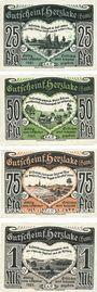 Banknotes Herzlake. Katholischer Kaufmanns-Verein. Série de 4 billets. 25, 50, 75, 1 mark 1.10.1921