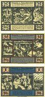 Banknotes Hessisch Oldendorf. Stadt. Billets. 25 pf, 50 pf, 1 mark 1.10.1921