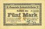 Banknotes Hettenleidelheim. Gemeinde. Billet. 5 mark 9.12.1918