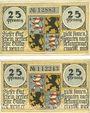 Banknotes Hildburghausen. Stadt. Série de 2 billets. 25 pf (1921) (2ex)