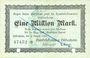 Banknotes Hildesheim. Handelskammer. Billet. 1 million mark 9.8.1923, annulation par double perforation...