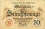 Banknotes Hirschberg a. Saale. Stadt. Billet. 10 pf 1.11.1917