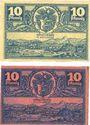 Banknotes Hirschberg i. Schlesien (Jelenia Gora, Pologne). Stadt. Billets. 10 pf n.d. - 31.3.1920 (2ex)