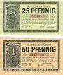 Banknotes Höchst a. Main. Stadt. Billets. 25 pf, 50 pf 1.6.1917