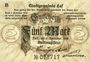 Banknotes Hof. Stadt. Billet. 5 mark 9.11.1918, série (Reihe) B