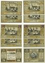 Banknotes Hohenfriedeberg (Dobromierz, Pologne). Magistrat. Billets. 25 pf (4ex), 50 pf (4ex), 75 pf, 1,25 mk