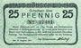 Banknotes Höhscheid. Stadt. Billet. 25 pf 11.8.1917