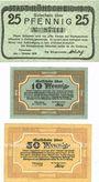Banknotes Höhscheid. Stadt. Billets. 25 pf 1.10.1919, 10 pf 1.2.1920, 50 pf 1.7.1920