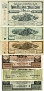 Banknotes Höhscheid. Stadt. Billets. 500000, 2, 5, 20, 50, 200 millions mark 7.8.1923