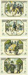 Banknotes Holzminden. Stadt. Billets. 1 mark (4 ex) (1921)